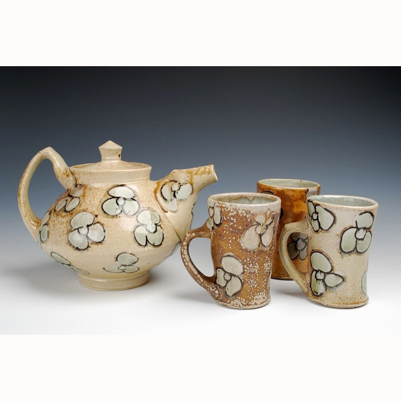 Jeffrey Lipton - Flowered Teapot